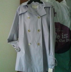 NWT MK Pale Orchid Trench Hood Gold M HOST;S PICK